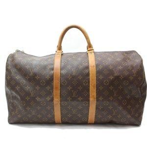 Auth Louis Vuitton Keepall 55 Brown #2205L21